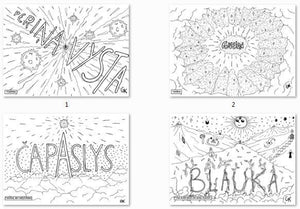 33 Pages of Latgalian Swearing Words Coloring Book for Adults - Gleznukalns