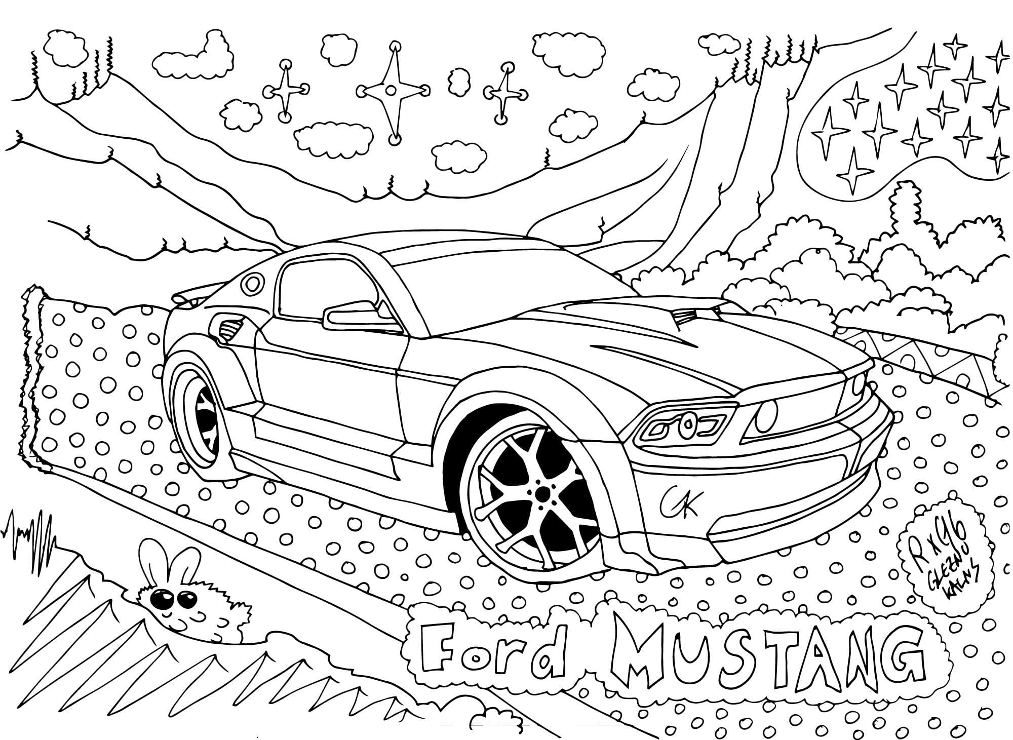 27 pages of Super Charged Dragrace Cars Coloring Book Digital PDF