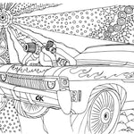 27 pages of Super Charged Dragrace Cars Coloring Book Digital PDF - Gleznukalns