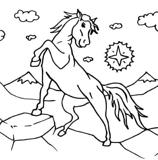 33 pages of Coloring Horses, Ponies and Unicorns Coloring book for kids Digital PDF
