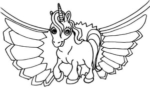 33 pages of Coloring Horses, Ponies and Unicorns Coloring book for kids Digital PDF - Gleznukalns
