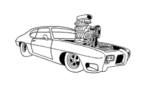 18 Coloring Pages Muscle Cars Instant Download Pack of Colorable Muscle Cars PDF