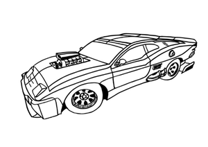 18 Coloring Pages Muscle Cars Instant Download Pack of Colorable Muscle Cars PDF - Gleznukalns