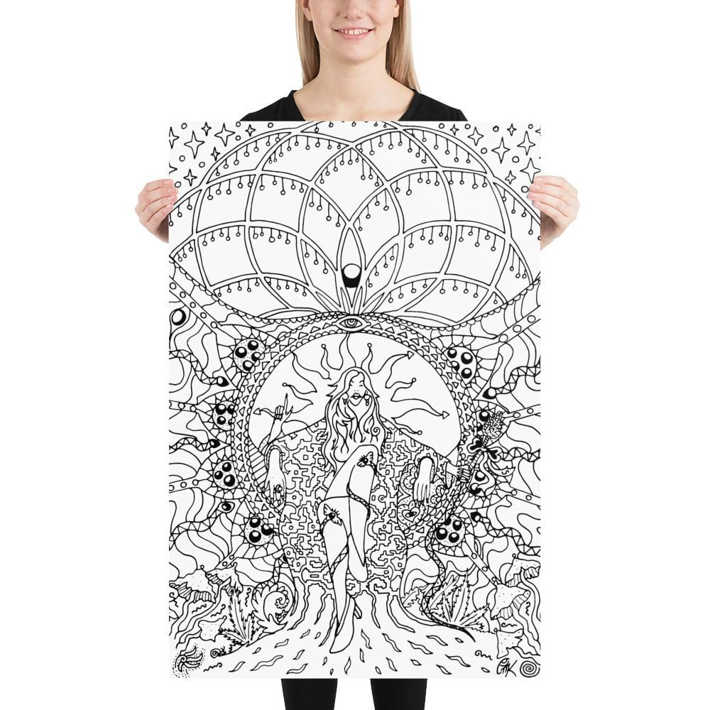 Colorable Poster Art Print from Gleznukalns