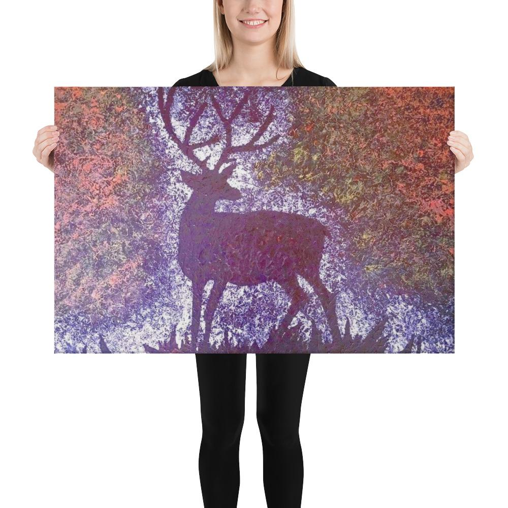 Canvas Print Magical Deer Buck Wall Art for Home - Gleznukalns