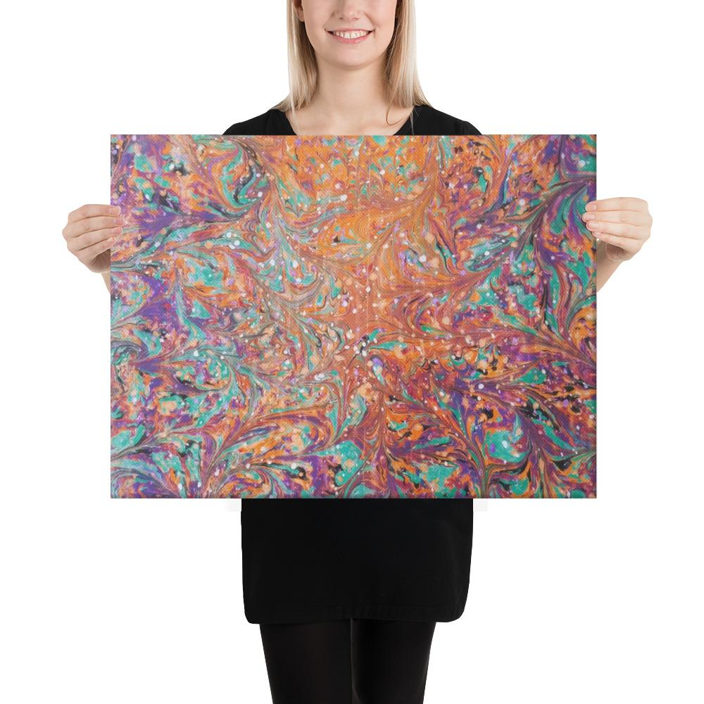 Canvas Print Abstract Ebru Art - Gleznukalns