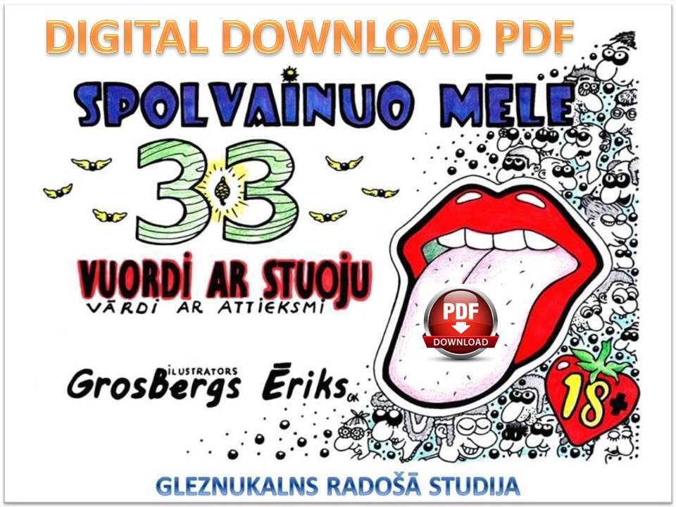 33 Pages of Latgalian Swearing Words Coloring Book for Grown-ups  PDF download - Gleznukalns
