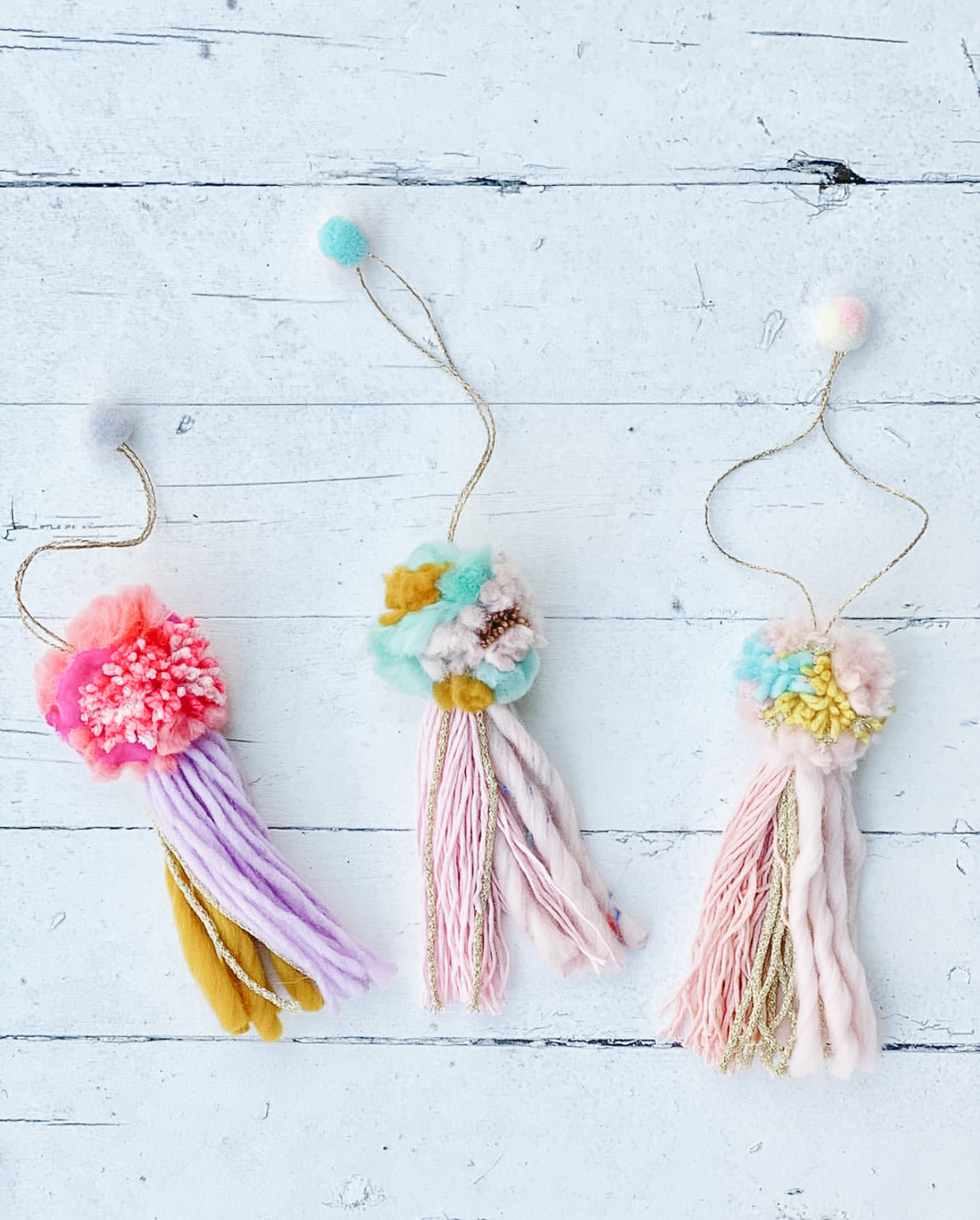 Pastel Pompoms for Bags