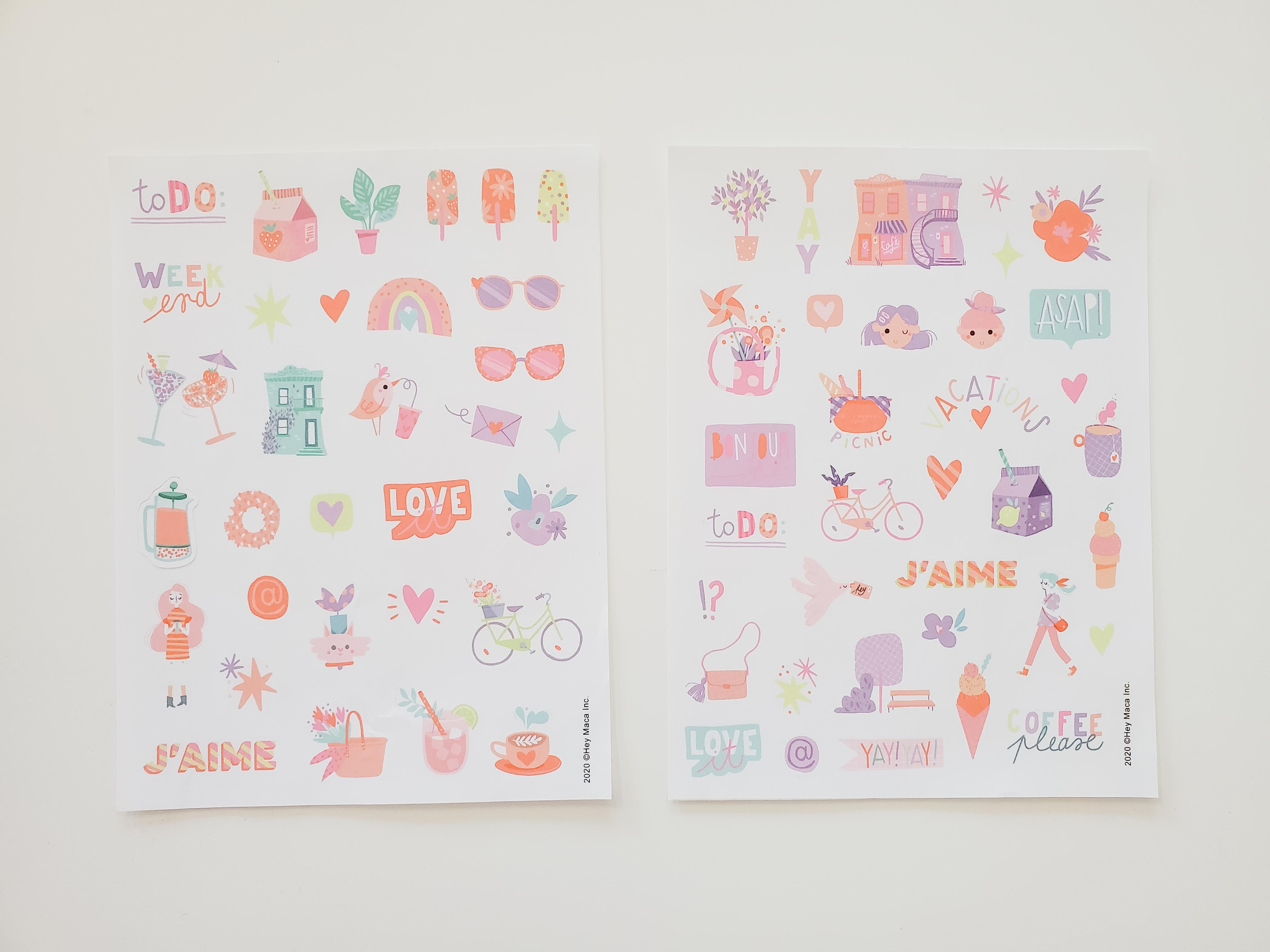 Our Magical Sticker Sheets