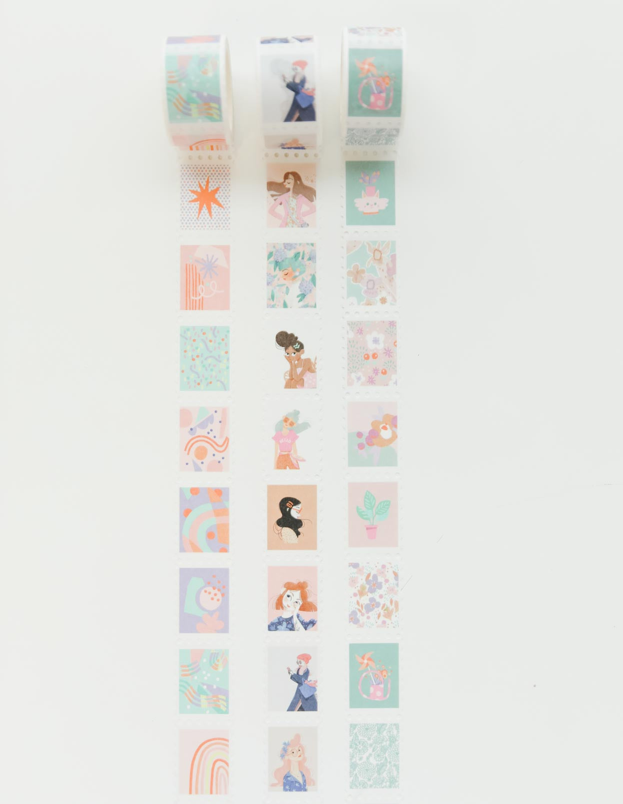 Our Awwwdorable Stamp Washi Tape: Colourful Ladies Edition!