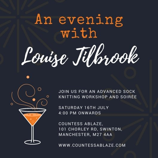 Event : An evening with Louise Tilbrook | Countess Ablaze