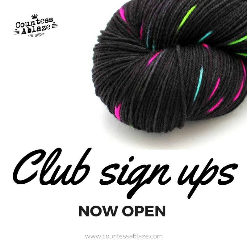 Oooo look, Countess Ablaze yarn and fibre clubs are open to subscriptions. CONTAINS ROUND 6 SPOILERS! Countess Ablaze