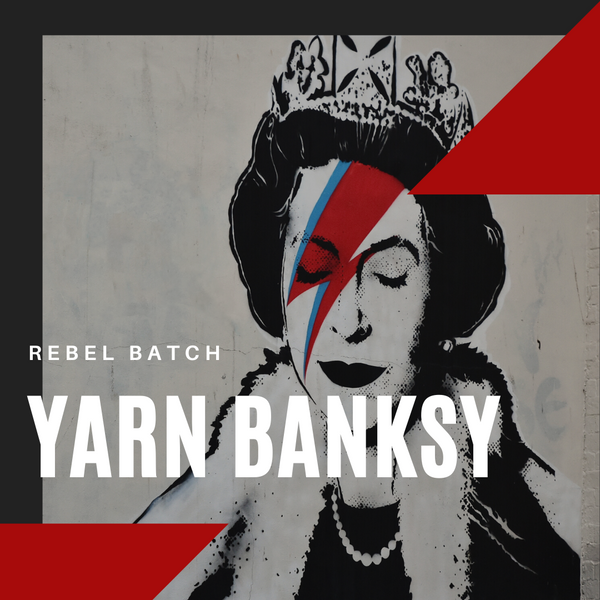 Yarn Banksy, a collection of hand-dyed yarn by indie dyer Countess Ablaze in Manchester, UK