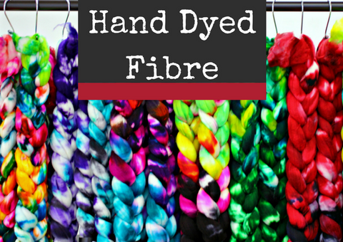 Hand dyed fibre at Countess Ablaze