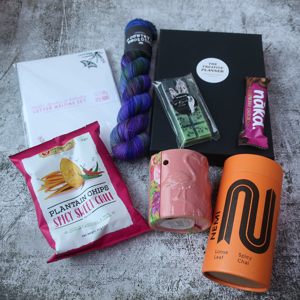 Contents of Joy as an Act of Resistance box by Countess Ablaze
