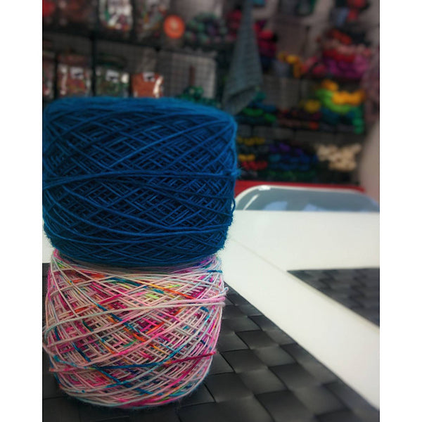So you have a variegated yarn that\'s just far too scary to actually ...