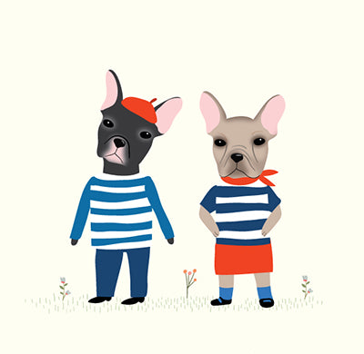 DOGS DRESSED UP: French Bulldogs!