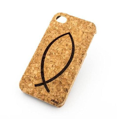 Cork Case Snap On Cover - ICHTHUS - Milkyway Cases -  iPhone - Samsung - Clear Cute Silicone Phone Case Cover