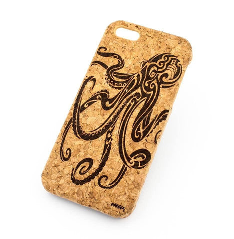 "Cork Case Snap On Cover - ""Octopus"" medusa squid sea ocean animals"