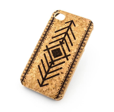 "Cork Case Snap On Cover - ""Tribal Arrow"" native indian ethnic mayan aztec diamond"