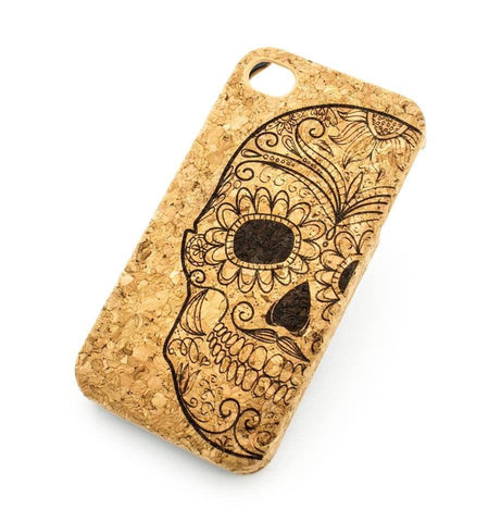 Cork Case Snap On Cover - HALF SUGAR SKULL