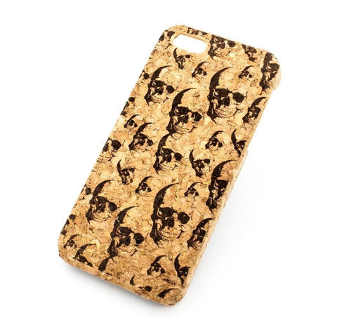 Cork Case Snap On Cover - MINI SUGAR SKULLS