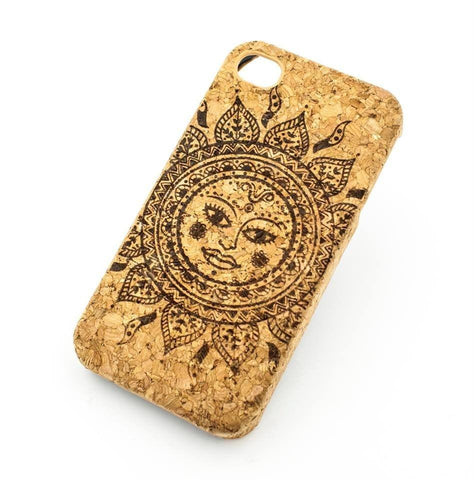 Cork Case Snap On Cover - EHTNIC TRIBAL SUN