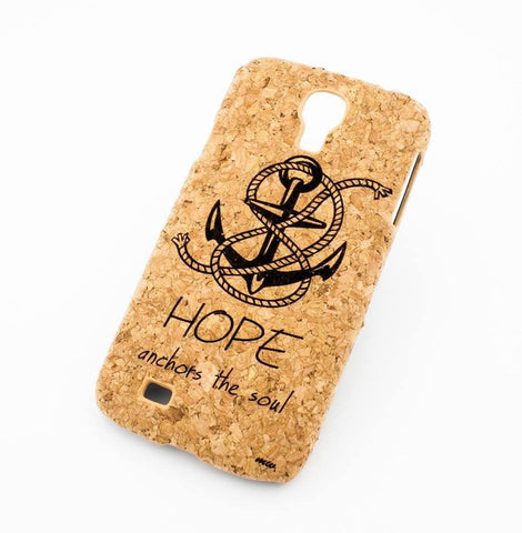 Cork Case Snap On Cover - HOPE ANCHORS THE SOUL