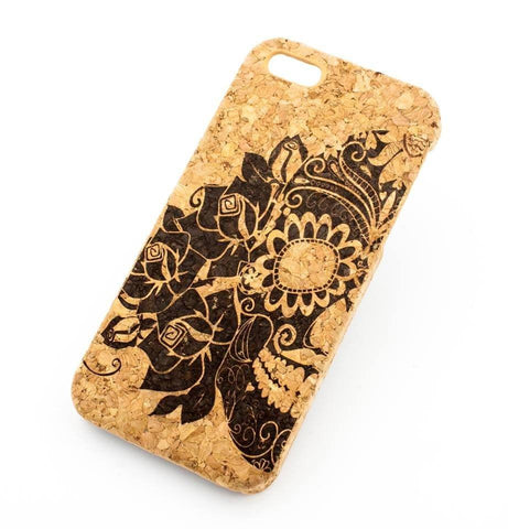 "Cork Case Snap On Cover - ""Tres Rosas Muerto"" sugar skull day of the dead dia de los mexican flower"