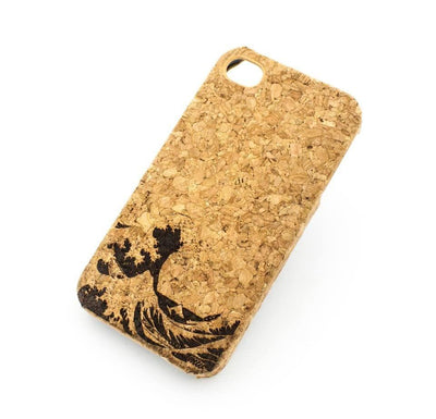 Great Wave of Kanagawa - Cork Case Snap On Cover - Milkyway Cases -  iPhone - Samsung - Clear Cut Silicone Phone Case Cover