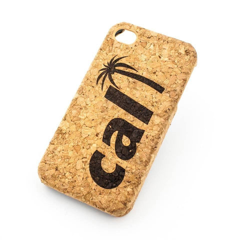 Cork Case Snap On Cover  - CALI PALM TREE