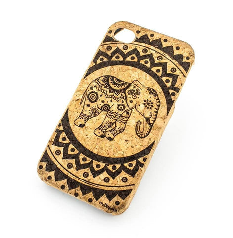Cork Case Snap On Cover - HINDU ELEPHANT MANDALA