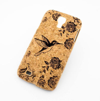 Cork Case Snap On Cover - HUMMINGBIRD Milkyway iPhone Samsung Clear Cute Silicone 8 Plus 7 X Cover