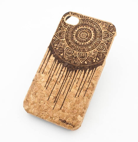 Cork Case Snap On Cover - DRIPPING MANDALA DREAM CATCHER