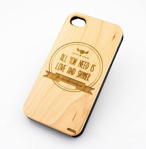 Genuine Wood Case - ALL YOU NEED IS LOVE AND SUMMER