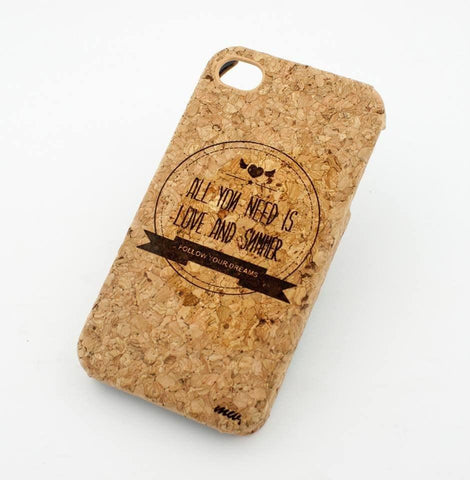Cork Case Snap On Cover - ALL YOU NEED IS LOVE AND SUMMER california sun cali palm tree floral flower