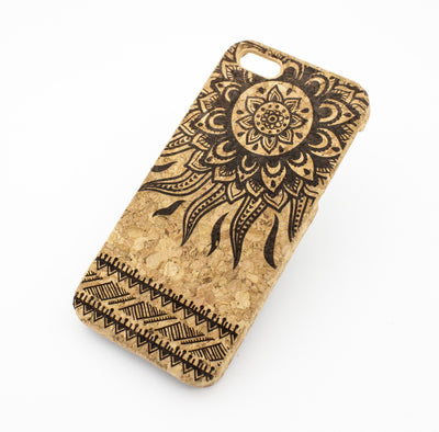 Cork Case Snap On Cover - TRIBAL AZTEC SUN - Milkyway Cases -  iPhone - Samsung - Clear Cut Silicone Phone Case Cover