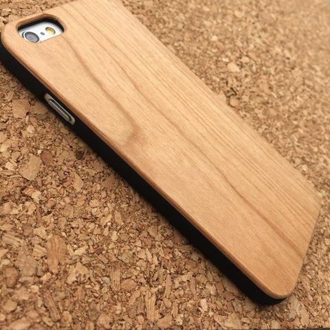 PLAIN GENUINE Genuine Wood Slim Fit  Snap On Case Cover
