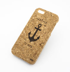 Cork Case Snap On Cover - REFUSE TO SINK (ANCHOR)