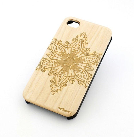 W103 Wood Case - FROZEN SNOWFLAKE