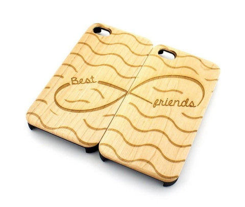 W111 Wood Case - (MATCHING CASE) BEST FRIENDS FOREVER - INFINITY SIGN