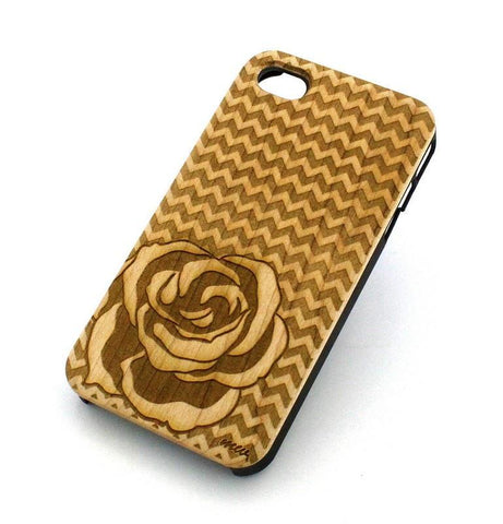 W124 Wood Case - CHEVRON ROSE