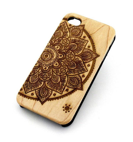 W122 Wood Case - LOTUS MANDALA