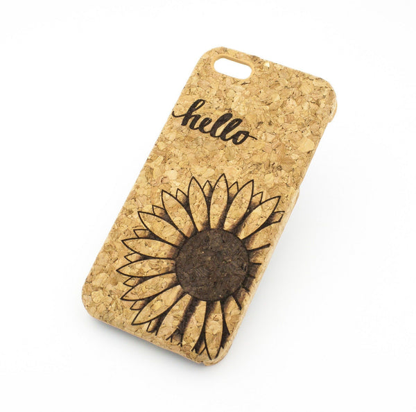 Cork Case Snap On Cover - HELLO SUNSHINE Milkyway iPhone Samsung Clear Cute Silicone 8 Plus 7 X Cover