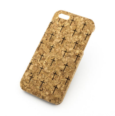 Cork Case Snap On Cover - MINI CROSSES - Milkyway Cases -  iPhone - Samsung - Clear Cut Silicone Phone Case Cover