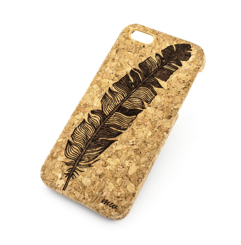 Cork Case Snap On Cover - FEATHER