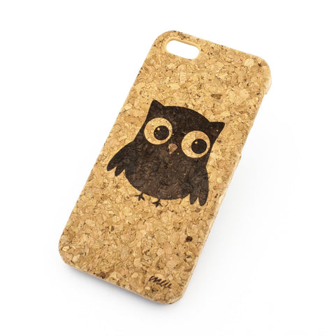 Cork Case Snap On Cover - CUTE OWL