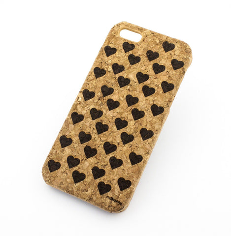Cork Case Snap On Cover  - MINI HEARTS