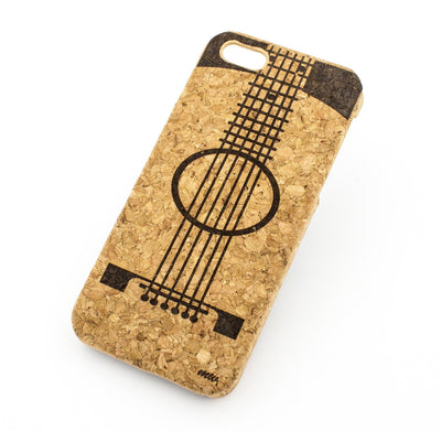 Cork Case Snap On Cover - GUITAR Milkyway iPhone Samsung Clear Cute Silicone 8 Plus 7 X Cover