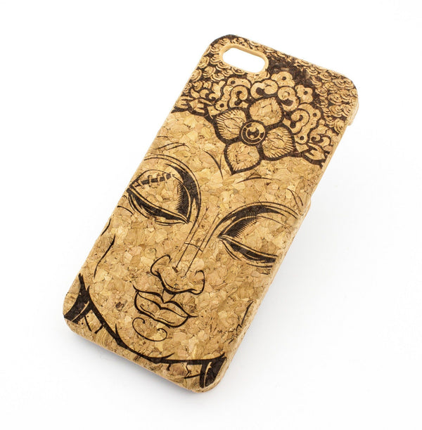 Cork Case Snap On Cover - THAI BUDDHA - Milkyway Cases -  iPhone - Samsung - Clear Cut Silicone Phone Case Cover